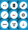 flat icon auto set of lifting automatic vector image vector image
