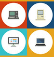 flat icon computer set of technology computing vector image vector image