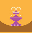 flat icon design collection chocolate fountain vector image vector image