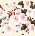 floral pattern with roses flowers vector image vector image