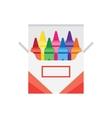 full box of wax colorful crayons vector image vector image