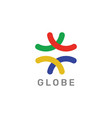 globe sphere colorful logo vector image vector image