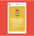 hydrant mobile vertical banner design design vector image