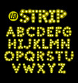 led ribbon strip light alphabet vector image vector image