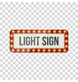 light sign realistic billboard template vector image vector image