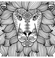 lion head with ethnic floral pattern vector image vector image