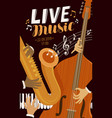 live music placard blues jazz musical festival vector image vector image