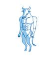 minotaur greek mythological creature legend image vector image vector image