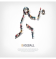 people sports baseball vector image vector image