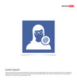 protected user icon - blue photo frame vector image