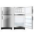 Refridgerator with closed and opened door vector image vector image