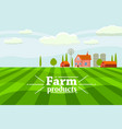 rural countryside with a farm vector image