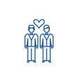 same sex marriage line icon concept same sex vector image vector image
