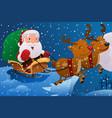 santa claus riding the sleigh vector image