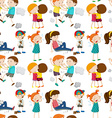 Seamless background with children in different vector image vector image