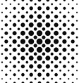 Seamless black and white dot pattern vector image vector image