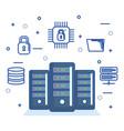 server data system secure file digital technology vector image