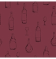 set of bottles with alcohol seamless vector image vector image