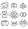 set of linear retro badges labels logo templates vector image