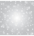 Silver and white snowflake background vector image