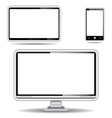 Silver monitor tablet and smart phone vector | Price: 1 Credit (USD $1)