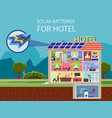 solar batteries for hotel vector image vector image