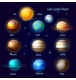 Solar system planets pictograms set vector image vector image