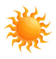 summer sun icon cartoon style vector image