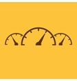 The tachometer speedometer and indicator icon vector image vector image