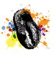 thumbprint on ink splatter vector image