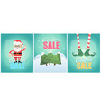 tiple christmas sale poster design vector image vector image
