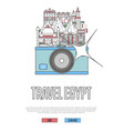 travel egypt poster with camera vector image vector image
