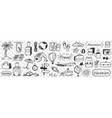 vacations and adventure doodle set vector image vector image