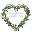valentine greeting card invite card herbs vector image vector image
