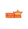 video-game-king-logo vector image vector image