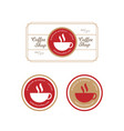 vintage retro coffee label and badge vector image vector image
