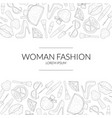 Woman fashion banner template with beauty elements