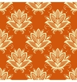 Yellow and orange paisley seamless pattern vector image vector image
