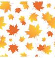 yellow marple leaf seamless pattern autumn vector image