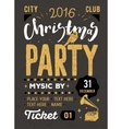 Christmas party retro typography poster vector image