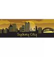 Sydney City Silhouette vector image