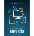 Frame design Computer Service for vector image