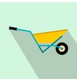 A wheelbarrow full of turf flat icon vector image vector image