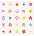 Abstract cute flowers vector image