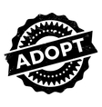 Adopt stamp rubber grunge vector image