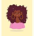 african american girl portrait beautiful cartoon vector image vector image