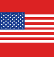american or united states flag banner vector image