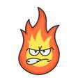 angry fireball cartoon vector image