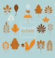 autumn theme set graphic elements vector image