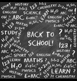 back to school card hand drawn chalk text vector image vector image